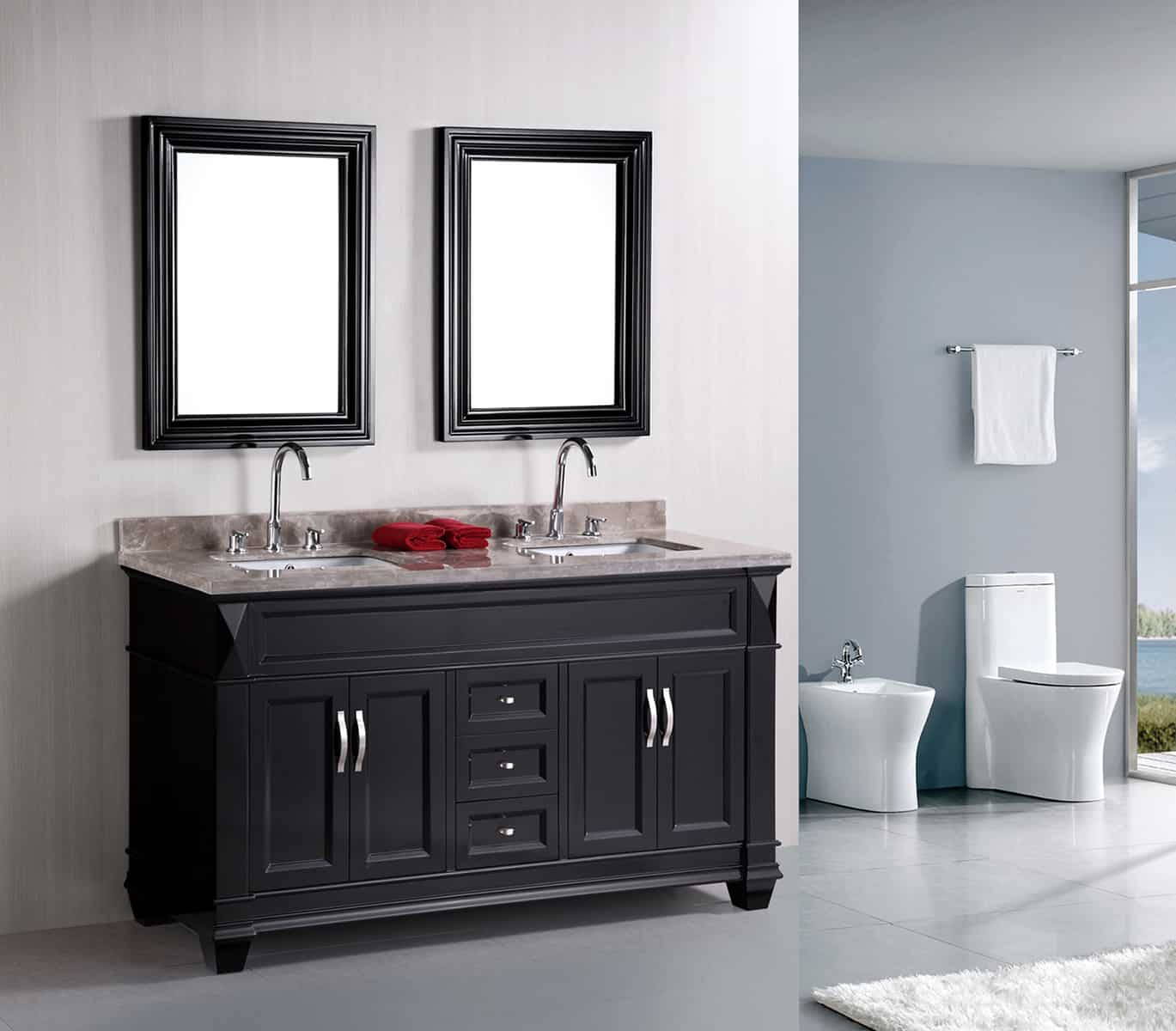 Hudson 60 double sink raj kitchen and bath for Bathroom designs lebanon