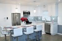 condo kitchen with island
