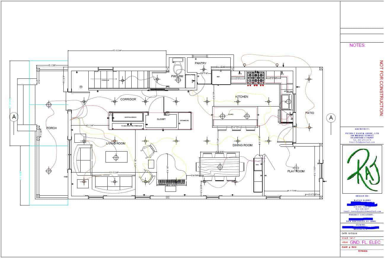 Sample of an actual floor plan designed by our Team